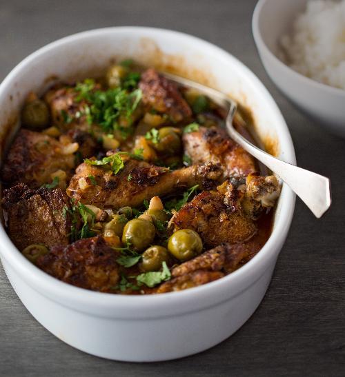Marocké kuře s bylinkami