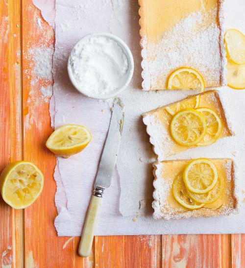Citronový koláč na plech
