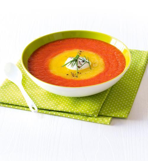 Dvojbarevná papriková polévka
