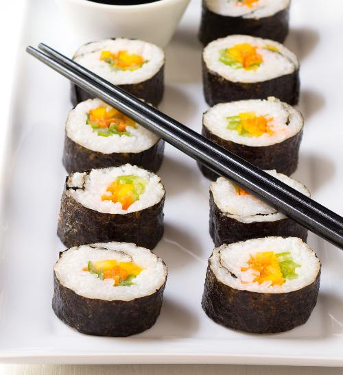Vegetariánské maki sushi