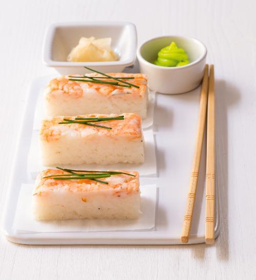 Sushi s krevetami