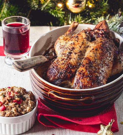 Vánoční kachna s nádivkou