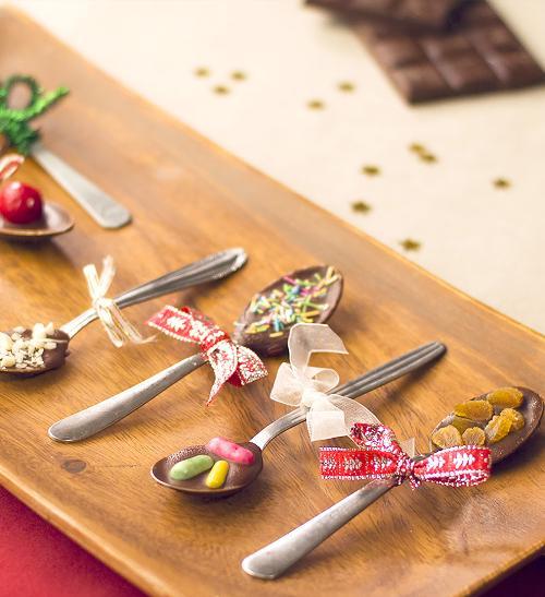 Vánoční lžičky s čokoládou