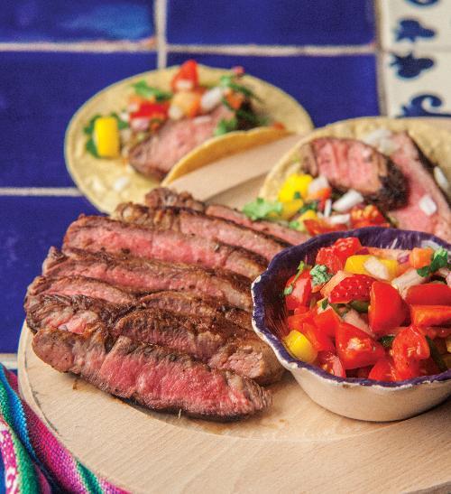 Pravý mexický steak bistec de res