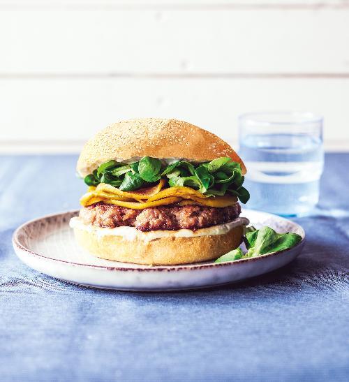 Burger s modrým sýrem