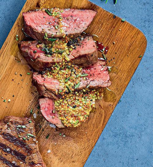 Rump steak s hořčičnou tapenádou
