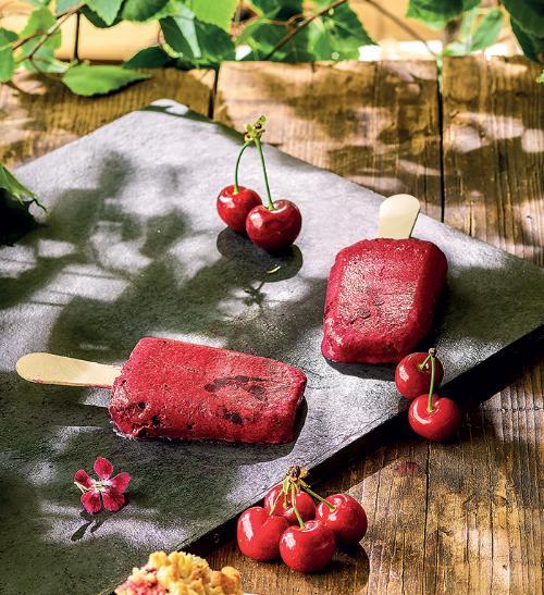 Ovocné nanuky z čerstvých třešní