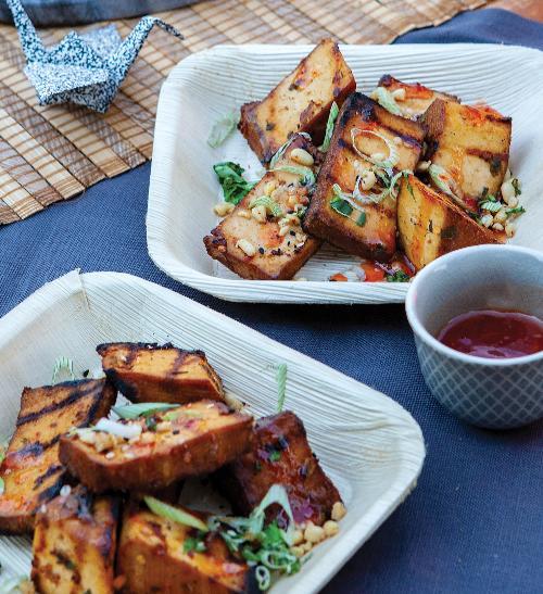 Tofu na gril marinované v arašídech