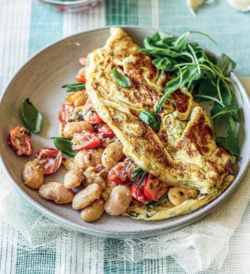 Bylinková omeleta s toskánskou směsí