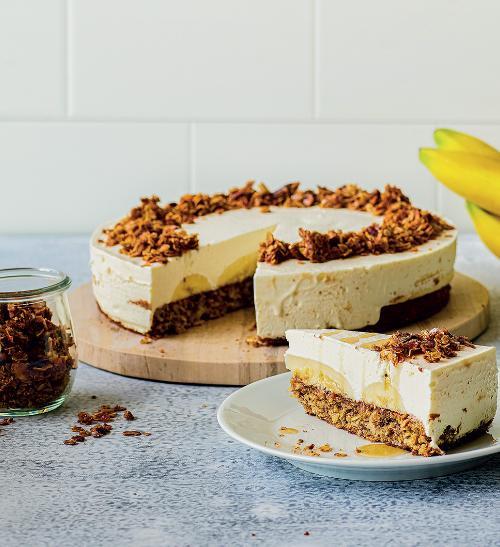 Banánový dort s granolou