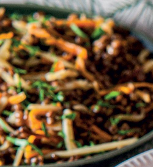 Čočka s kořenovou zeleninou