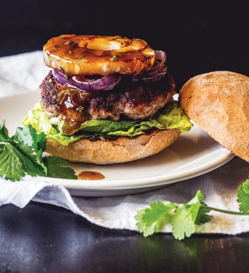 Hawai burger s omáčkou teriyaki