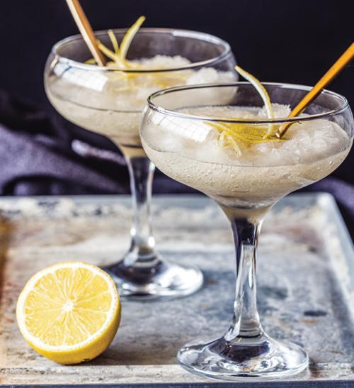 Vodka-lemon sorbet