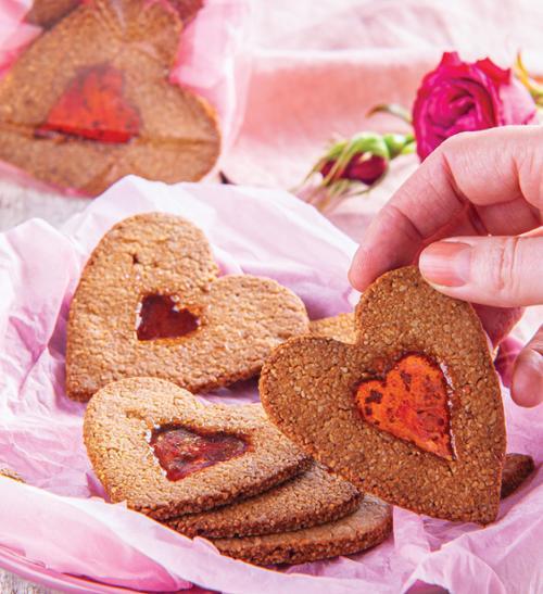 Mandlové sušenky se sklíčky