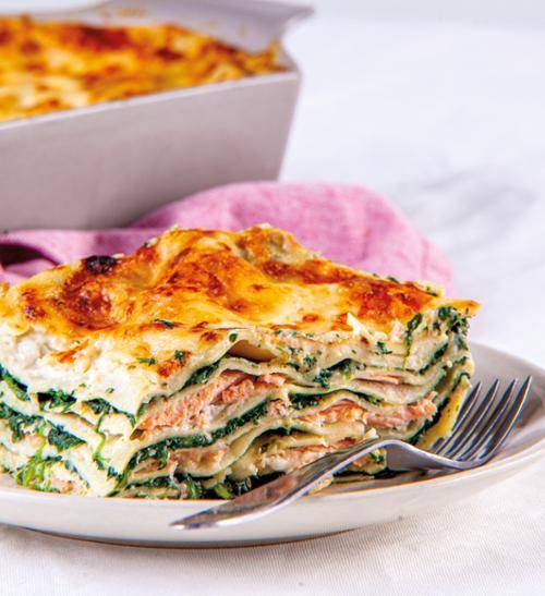 Lososové lasagne s bešamelem