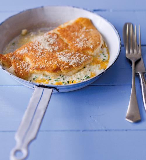 Nadýchaná vaječná omeleta se sýrem