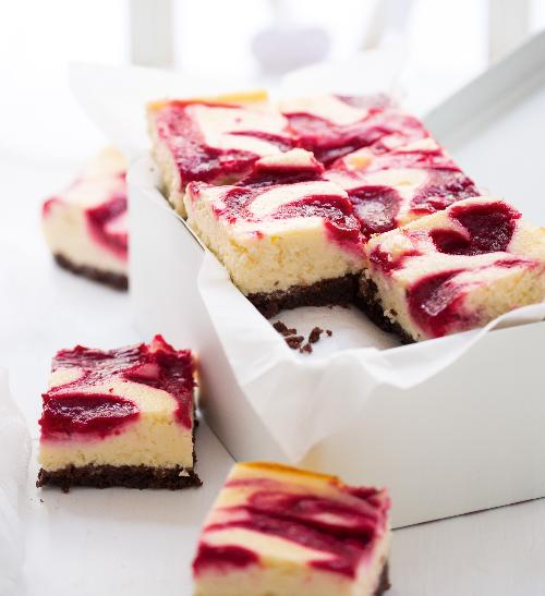 Malinovo-citronový cheesecake