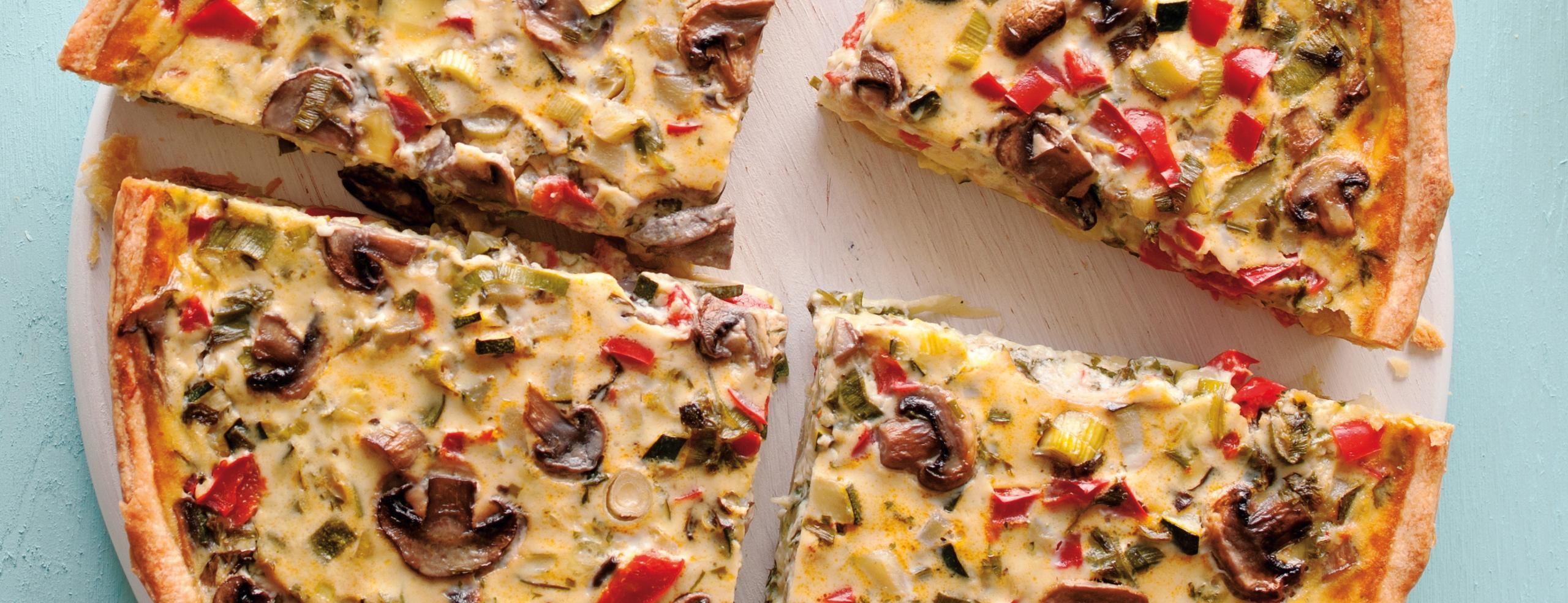 Zeleninovo-sýrový quiche