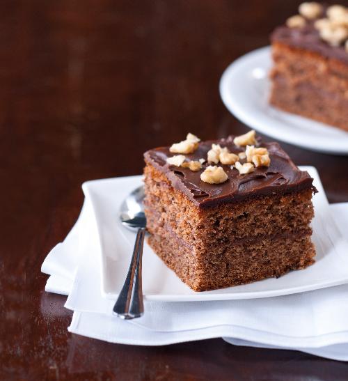 Čokoládovo-ořechové kostky