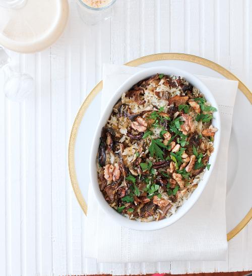 Houbový kuba s rýží podle babičky