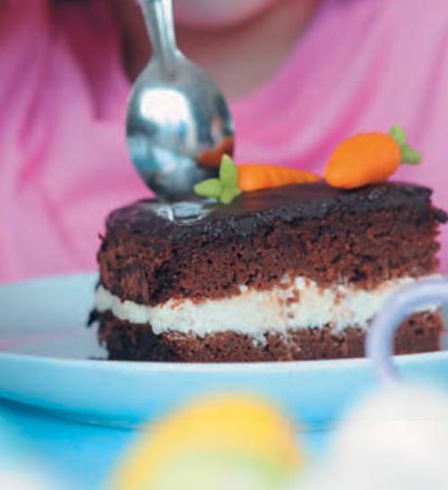 Mrkvový koláč s kakaem
