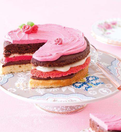 Trojbarevný dort pro děti
