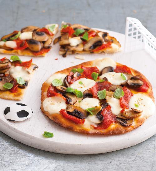 Rychlá houbová pizza