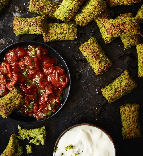 Pečené brokolicové válečky