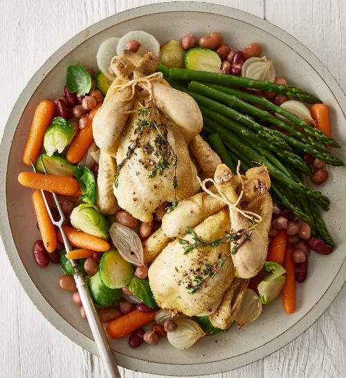 Kuřátka na zelenině