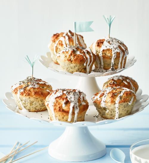 Citronové muffiny s chia semínky a ricottou
