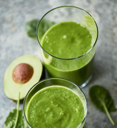 Zelené avokádové smoothie