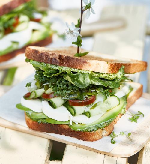 Zeleninové sendviče s bylinkovou majonézou