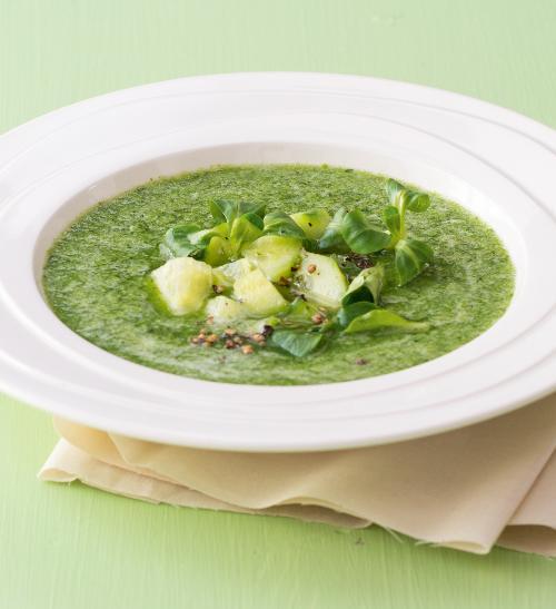 Studená avokádová polévka