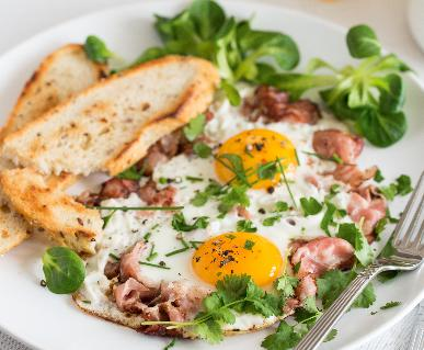 Recept Ham and eggs
