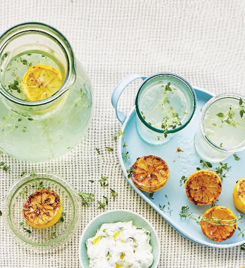 Limonáda zgrilovaných citronů stymiánem