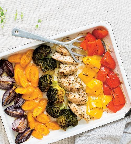 Kuře sduhovou zeleninou