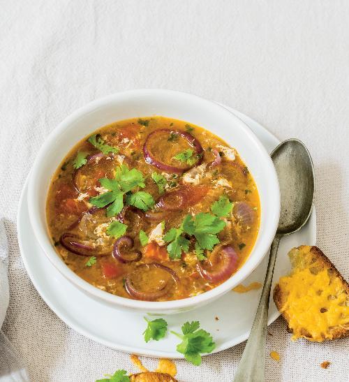 Mexická cibulová polévka