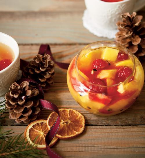 Pečený čaj z exotického  ovoce
