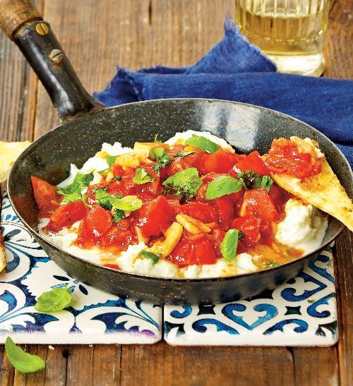 Rajčata na víně smozzarellou