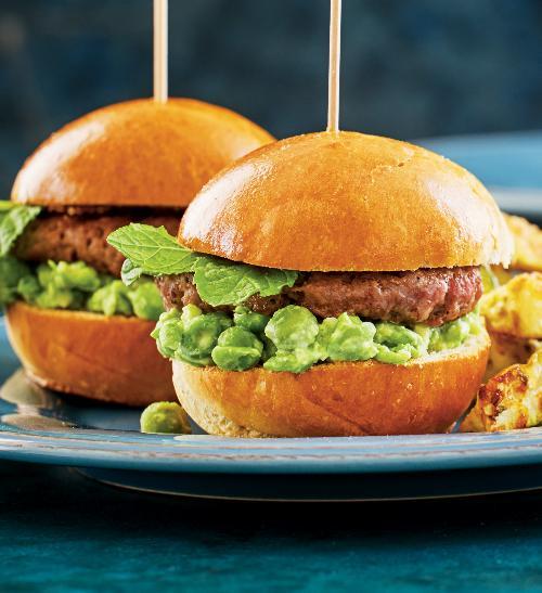 Miniburger pro děti shráškovým guacamole