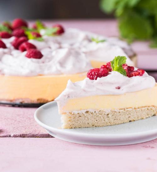 Malinový cheesecake s mangem