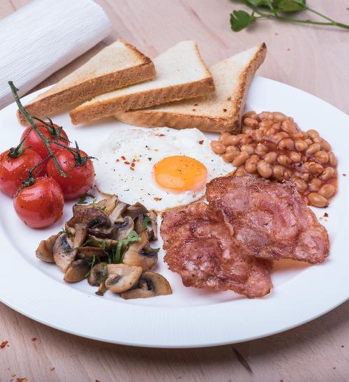 Klasická anglická snídaně