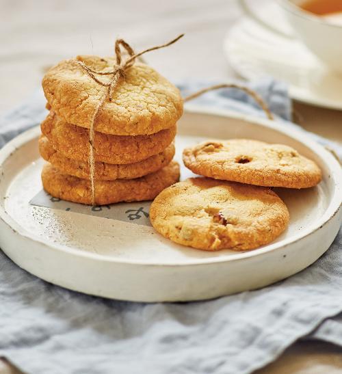 Máslové sušenky s oříšky