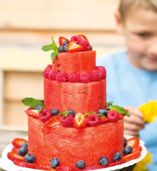 Osvěžující melounový dort